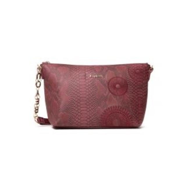 Little sling bag snakeskin effect - Pink