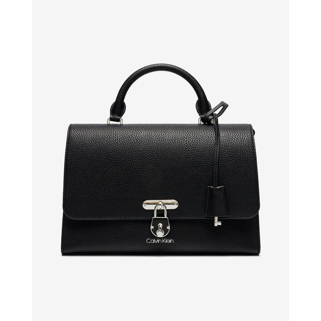 Flap Top Handle MD Bag Women - Black