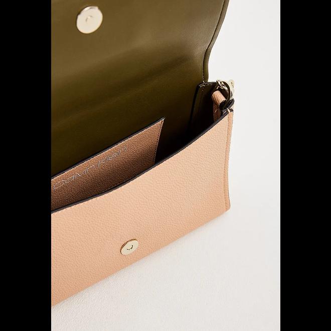 CK Signature Flap XBody Bag - Pink
