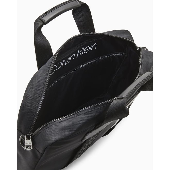 Recycled Nylon Laptop Bag Men - Black