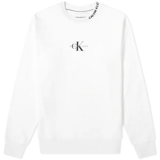 Monogram Logo Sweatshirt Men - White