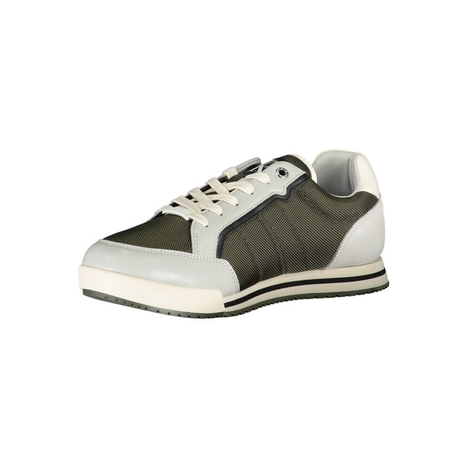 Ck Men sneaker with suede detail on the heel - Green/beige