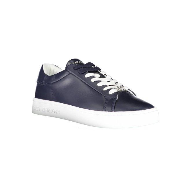 Leather Sneakers Men - Navy Blue