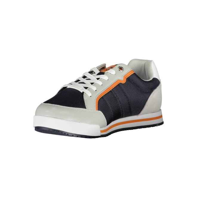 Ck Men sneaker with suede detail on the heel - Blue/Beige