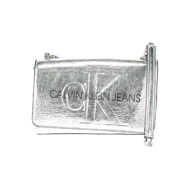 Metallic CK Crossbody Bag - Silver