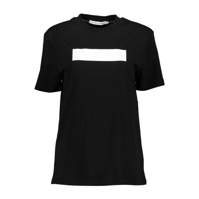 Embossed logo t-shirt - CK Black/Bright White