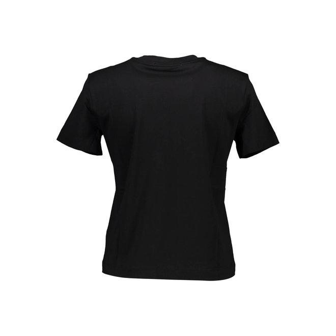 Organic Cotton Logo T-Shirt Women - CK Black/Muslin