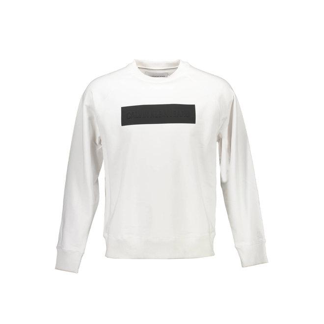 Embossed logo sweatshirt - White