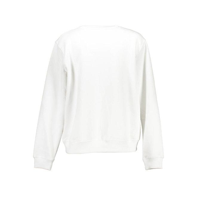 Embroidered Logo Sweatshirt Women  - Bright White
