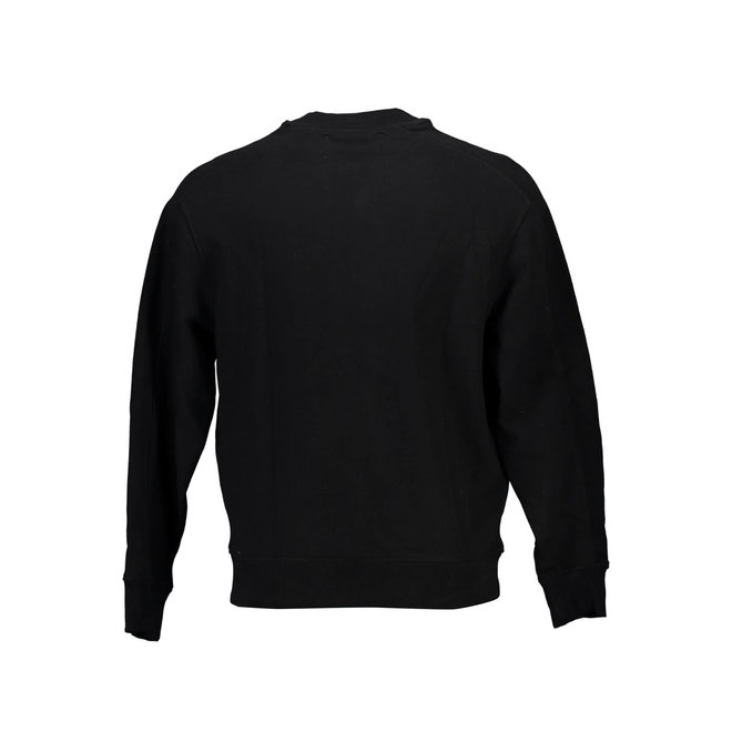 Relaxed organic cotton sweatshirt - Black