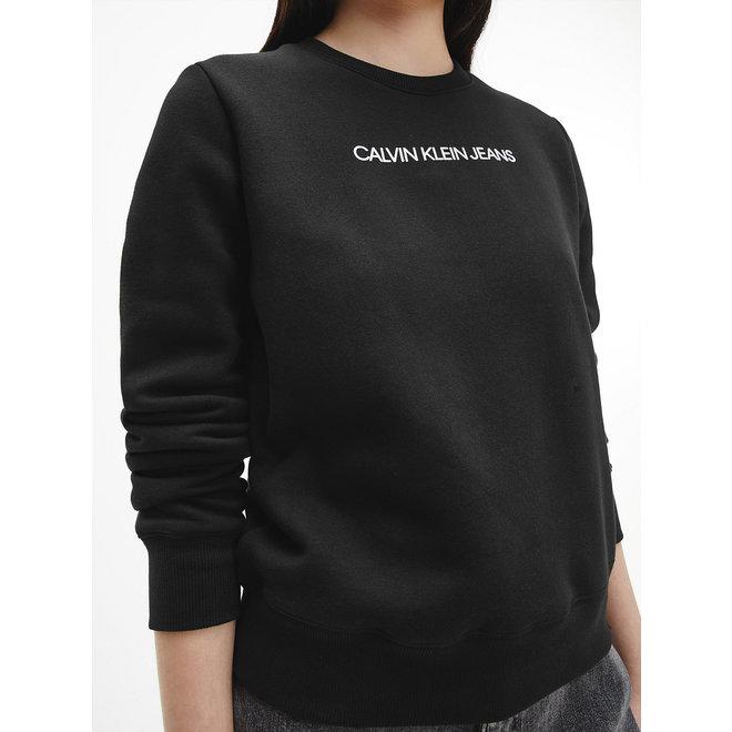 Organic Cotton Logo Sweatshirt Women - CK Black/Muslin