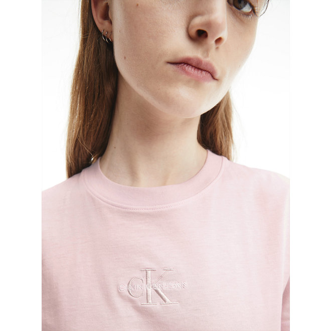 Organic Cotton Logo T-Shirt Women - Pearly Pink/Quiet Grey