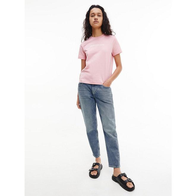 Organic Cotton Logo T-Shirt Women - Soft Berry/Bright White