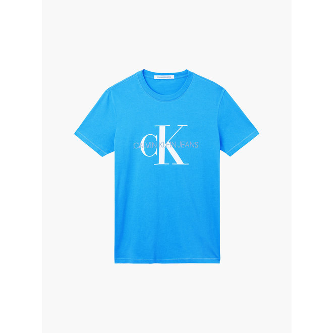 Slim Organic Cotton Monogram T-Shirt Men - Mesmerizing Blue