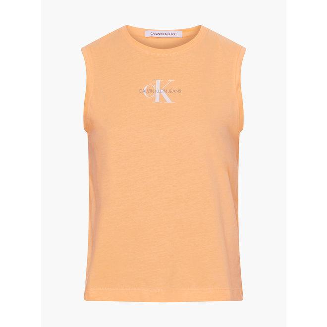 Organic Cotton Logo Tank Top Women - Crushed Orange