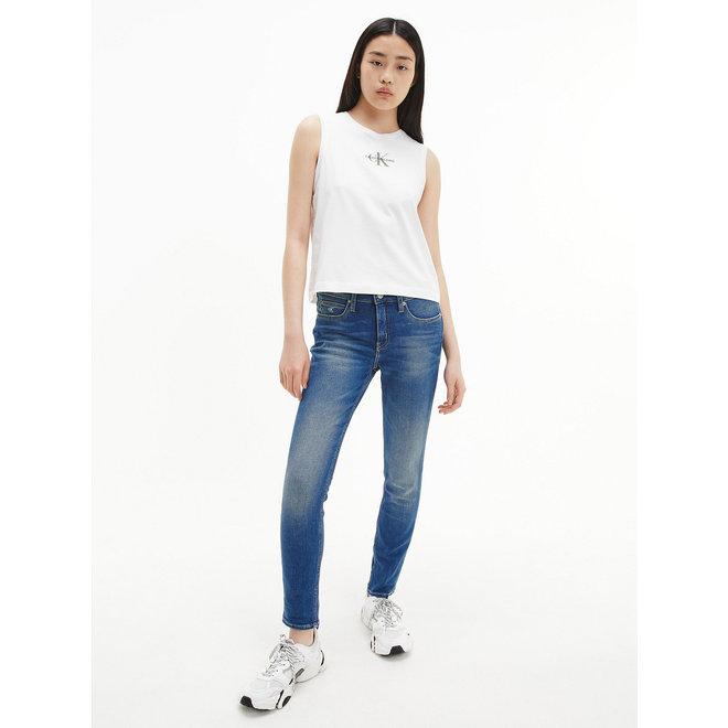 Organic Cotton Logo Tank Top Women - Bright White