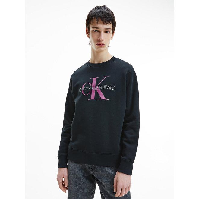 Organic cotton monogram sweatshirt - Black