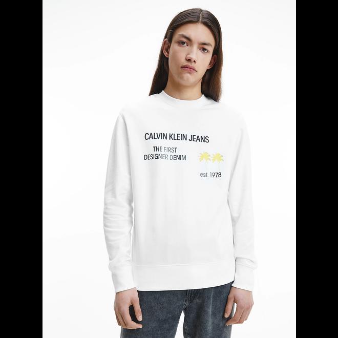 Organic cotton palm print sweatshirt