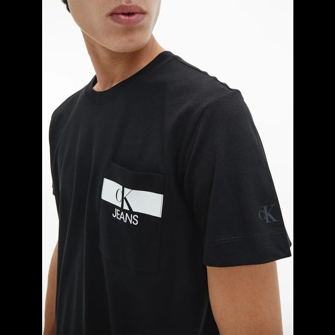 Organic cotton pocket logo t-shirt - Black