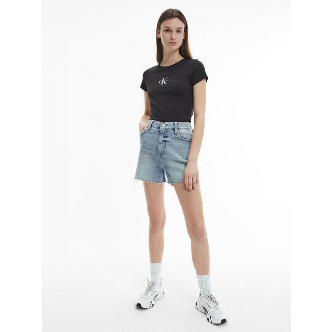 Slim organic cotton logo t-shirt - Black