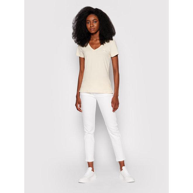 Slim organic cotton v-neck t-shirt - Off White