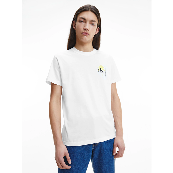 Organic cotton palm print t-shirt - White
