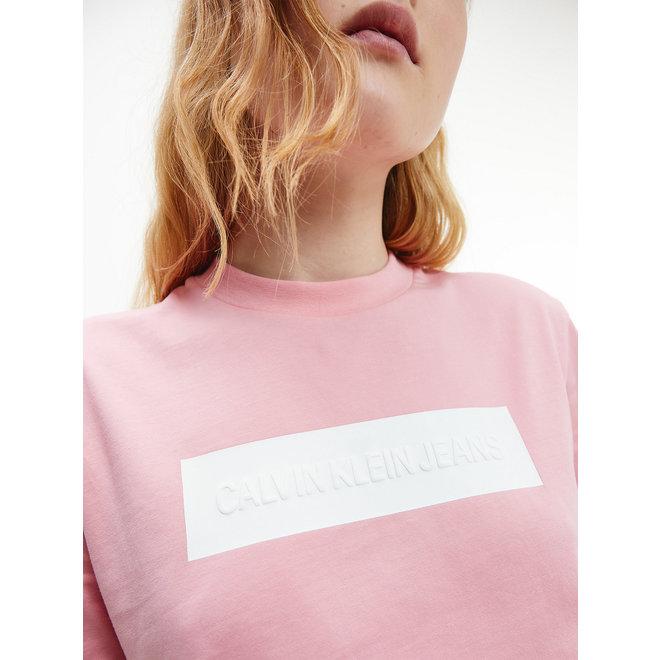 Embossed logo t-shirt - Soft Berry/Bright White