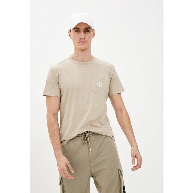 Organic cotton logo t-shirt - Beige