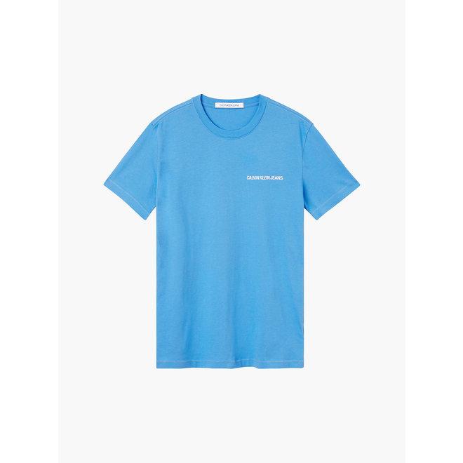 Slim organic cotton logo t-shirt - Mesmerizing Blue