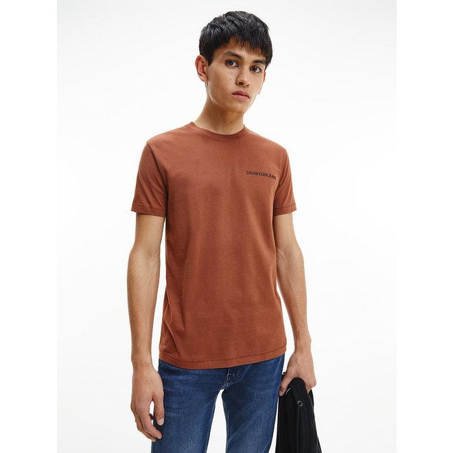 Slim organic cotton logo t-shirt - Tortoise Shell