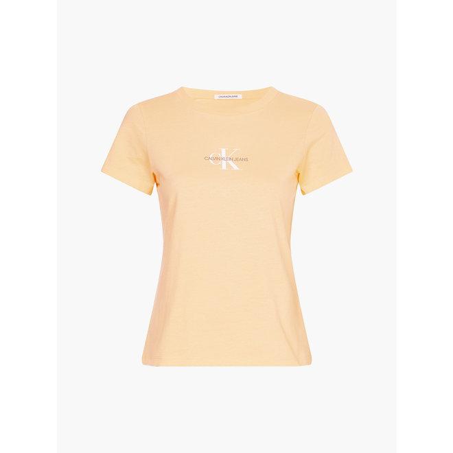 Slim organic cotton logo t-shirt - Crushed Orange