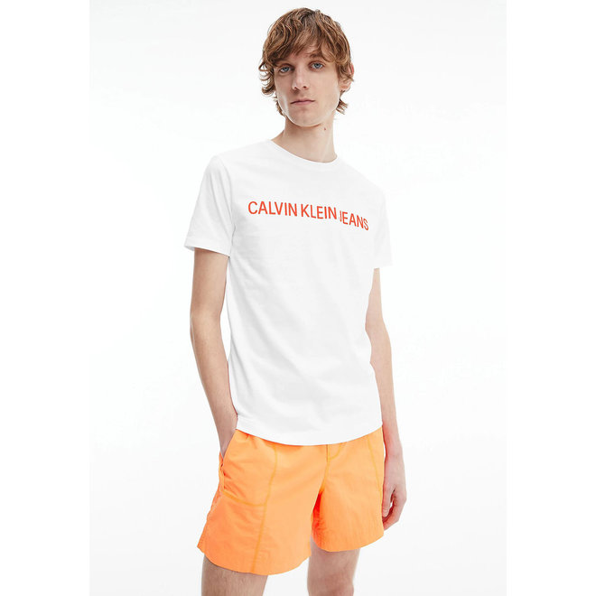 Slim organic cotton logo t-shirt Men - White