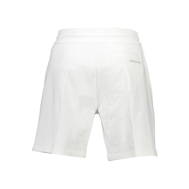 Organic cotton side logo shorts - White
