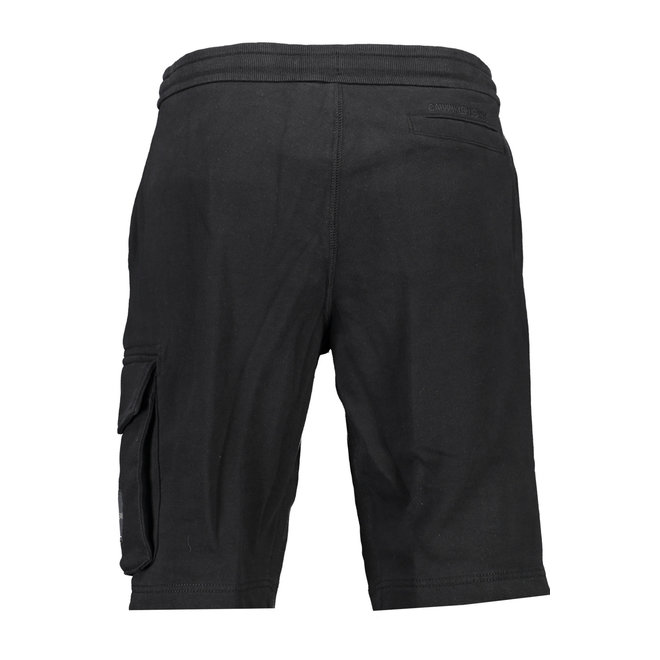 Organic cotton jogger shorts - Black