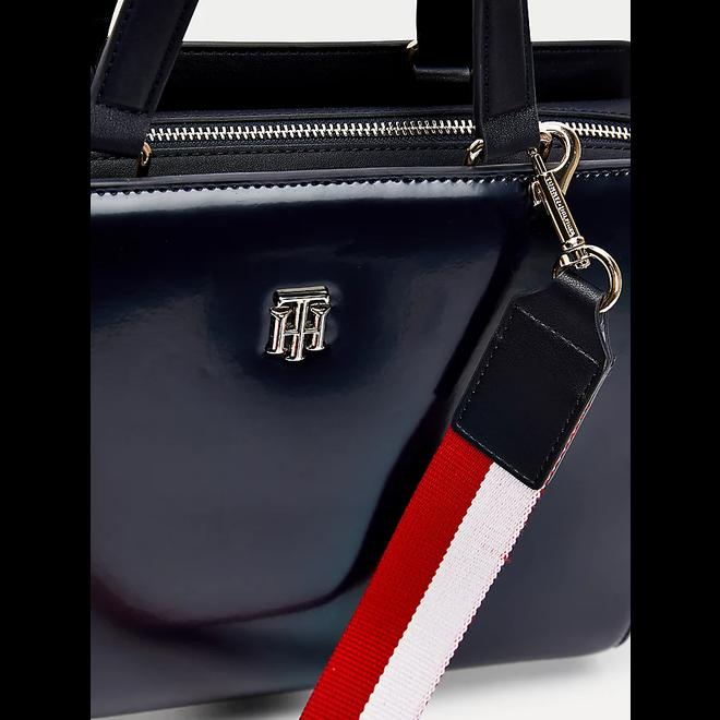 TH staple signature detail satchel
