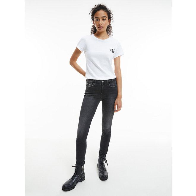 2- Pack slim organic cotton T- shirts women - Bright White