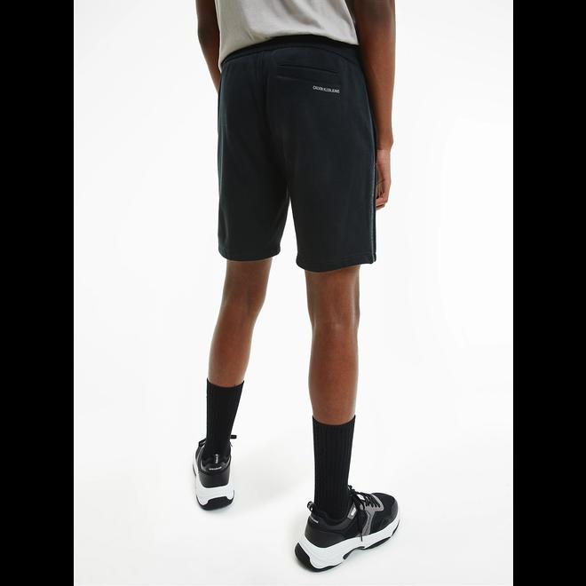 Organic cotton side logo shorts - Black