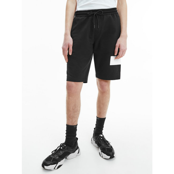 Embossed logo jogger shorts - Black