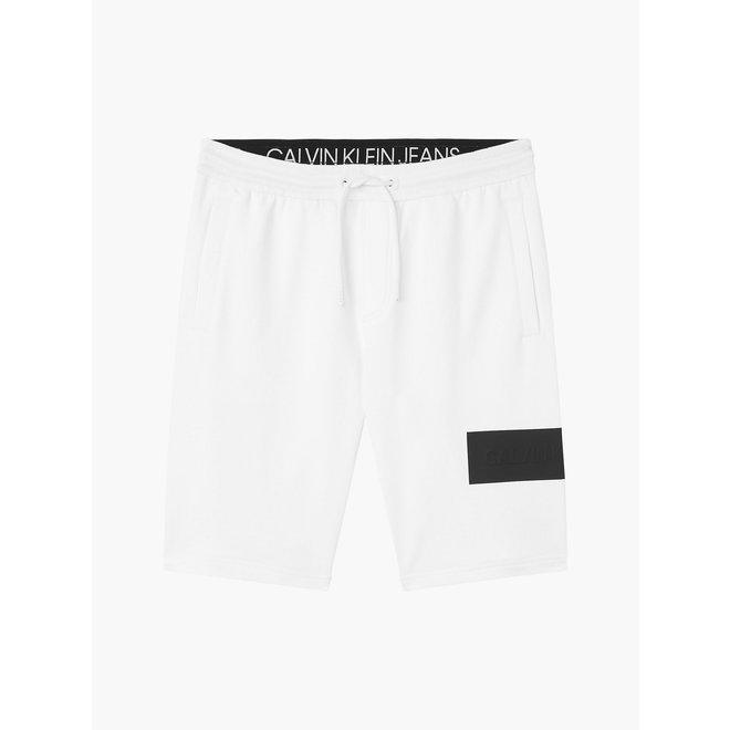 Embossed logo jogger shorts - White