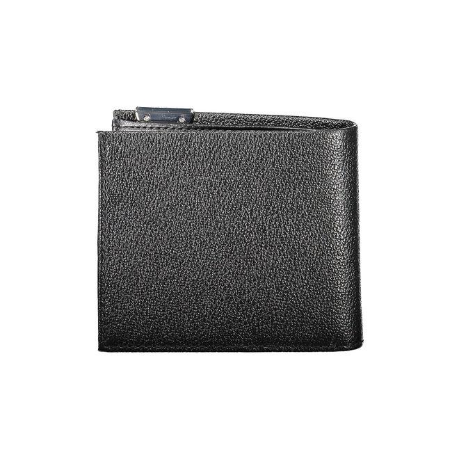 Leather CK Billfold Wallet Men - Black