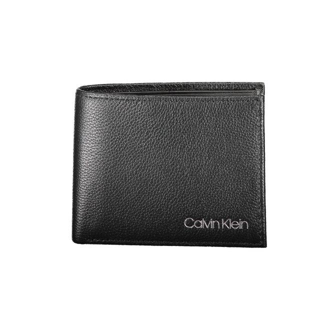 Leather Slimfold Wallet Men - CK Black