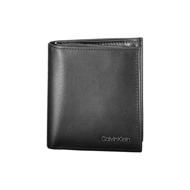 Rfid-Blocking Leather Trifold Wallet Men - CK Black