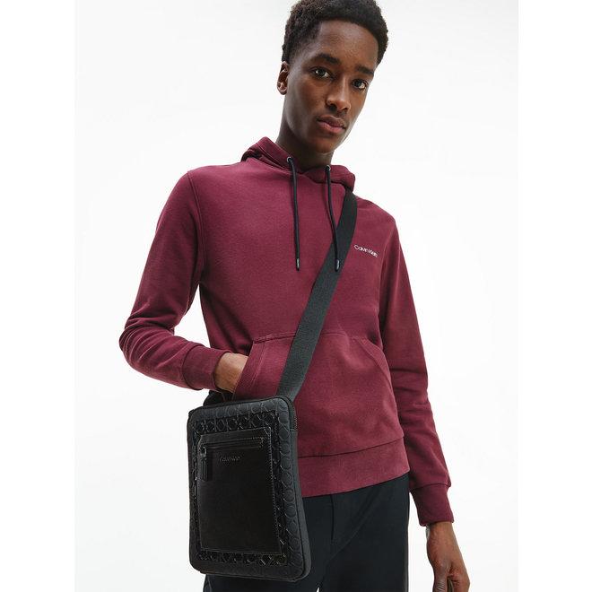 Flat CK Crossbody Bag - Black