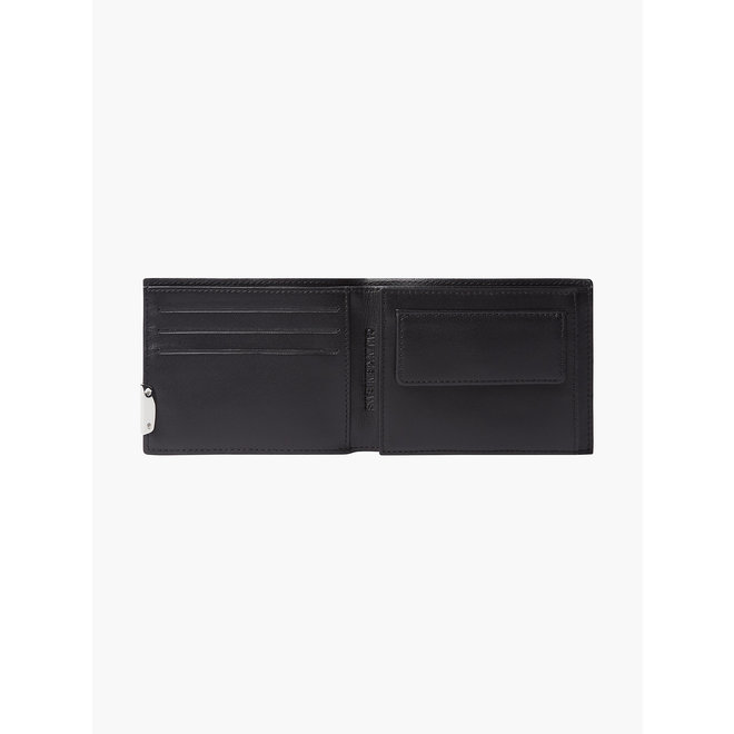 Leather Trifold Wallet Men - CK Black