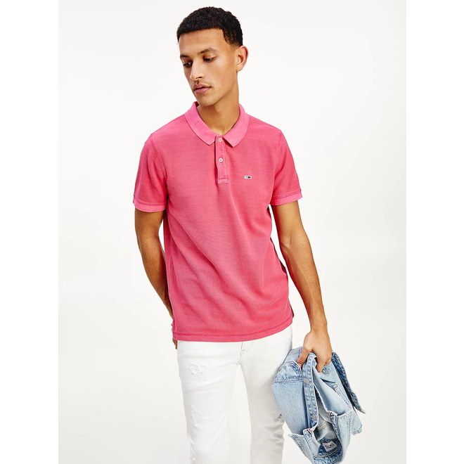 Garment dyed polo - Bright Cerise Pink