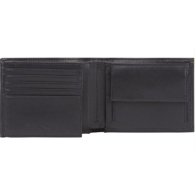 Leather Billfold CK Wallet Men - Black