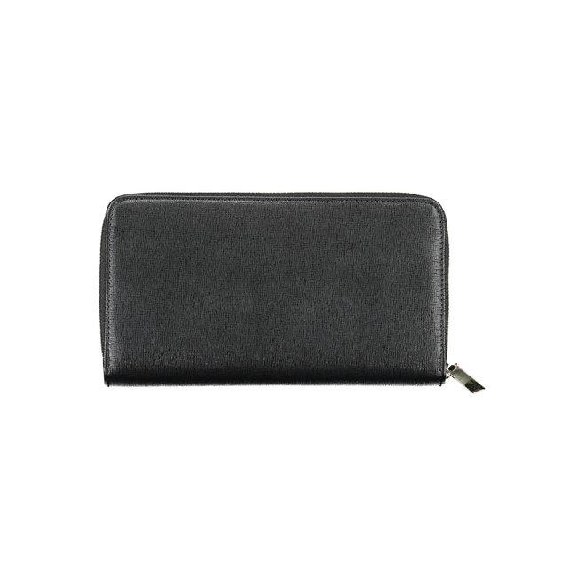 CK Logo-lettering zip-around Wallet - Black