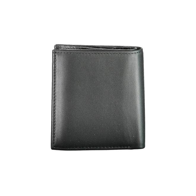 Rfid-Blocking Leather Trifold Wallet  Men - Black