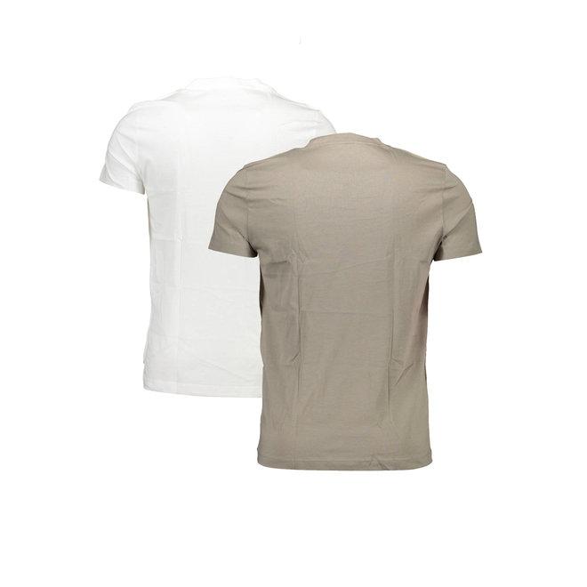 2 Pack Slim Organic Cotton T-shirt Men - Travertine/Black