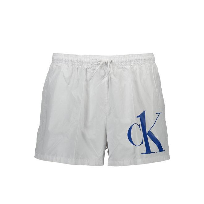 Short Drawstring Swim Shorts Men - Ck One - Classic White